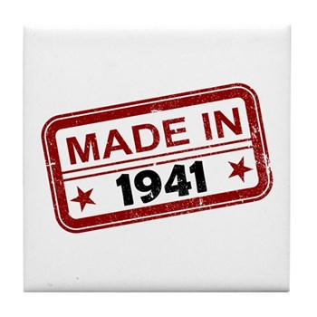 Stamped Made In 1941 Tile Coaster