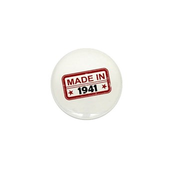 Stamped Made In 1941 Mini Button (10 pack)