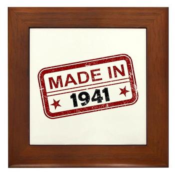 Stamped Made In 1941 Framed Tile