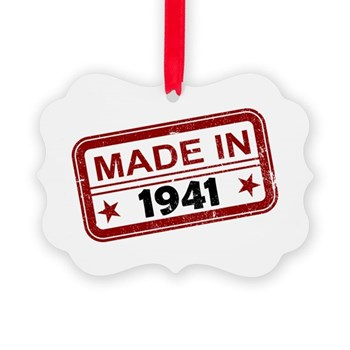 Stamped Made In 1941 Picture Ornament