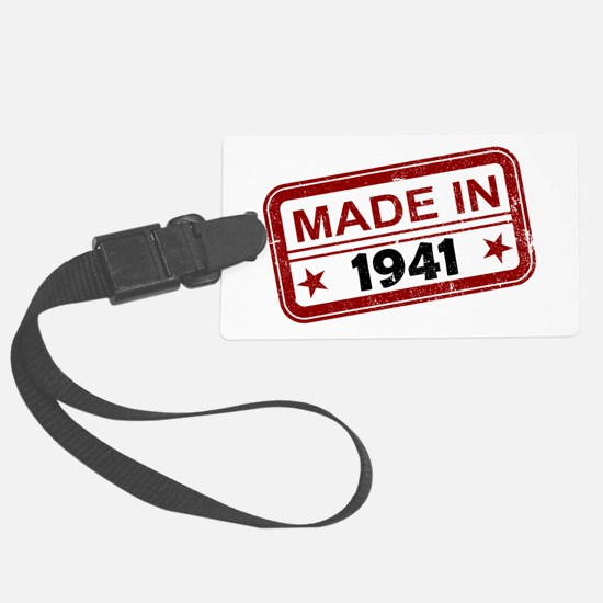 Stamped Made In 1941 Luggage Tag