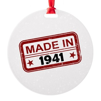 Stamped Made In 1941 Round Ornament