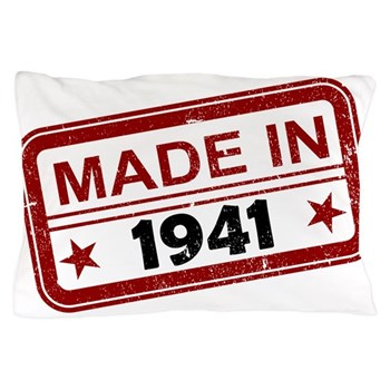 Stamped Made In 1941 Pillow Case