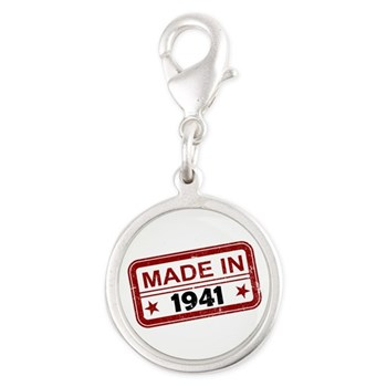 Stamped Made In 1941 Silver Round Charm