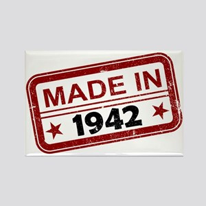 Stamped Made In 1942 Rectangle Magnet