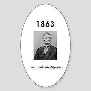 Timeline 1863 Sticker (Oval)