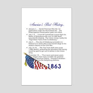 Timeline 1863 Mini Poster Print