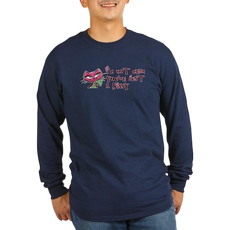 Retro Sissy Cat Funny Long Sleeve Dark T-Shirt