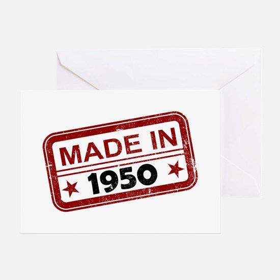 Stamped Made In 1950 Greeting Card
