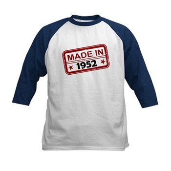 Stamped Made In 1952 Kids Baseball Jersey