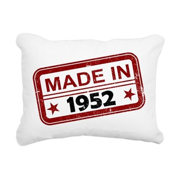 Stamped Made In 1952 Rectangular Canvas Pillow