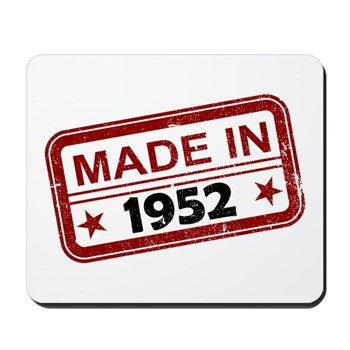 Stamped Made In 1952 Mousepad