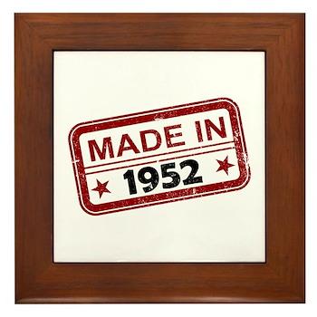 Stamped Made In 1952 Framed Tile