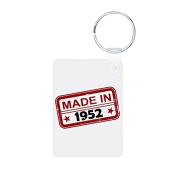 Stamped Made In 1952 Aluminum Photo Keychain