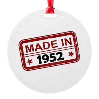 Stamped Made In 1952 Round Ornament
