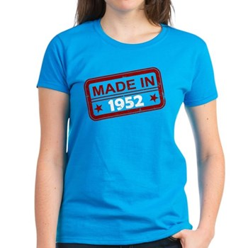 Stamped Made In 1952 Women's Dark T-Shirt