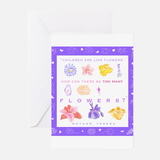 Floral Pro Life Greeting Cards