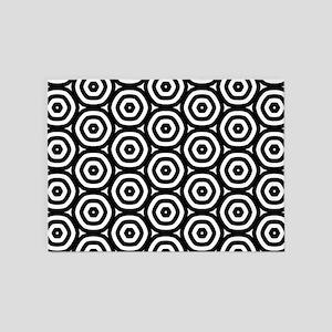 Circle Pattern 5'x7'Area Rug