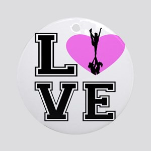 Love Cheerleading Ornament (round)