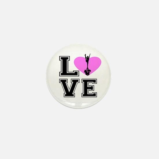 Love Cheerleading Mini Button
