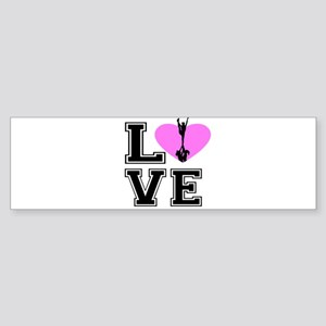 Love Cheerleading Bumper Sticker
