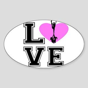 Love Cheerleading Sticker