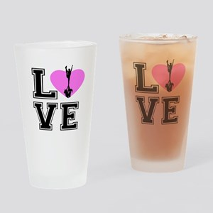 Love Cheerleading Drinking Glass