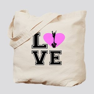 Love Cheerleading Tote Bag