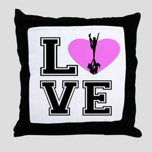 Love Cheerleading Throw Pillow