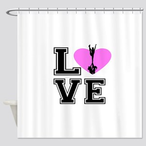 Love Cheerleading Shower Curtain
