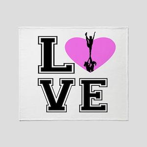 Love Cheerleading Throw Blanket