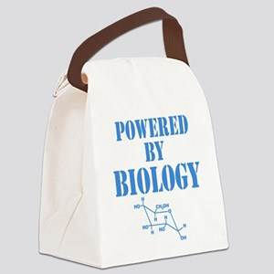 Powered By Biology Canvas Lunch Bag