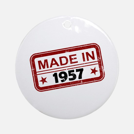 Stamped Made In 1957 Round Ornament