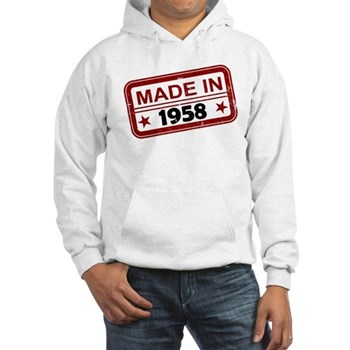 Stamped Made In 1958 Hooded Sweatshirt