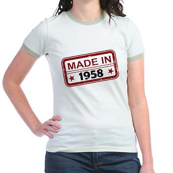 Stamped Made In 1958 Jr. Ringer T-Shirt