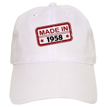 Stamped Made In 1958 Cap