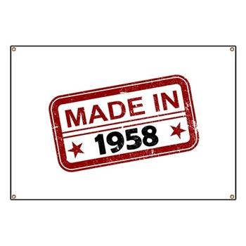 Stamped Made In 1958 Banner