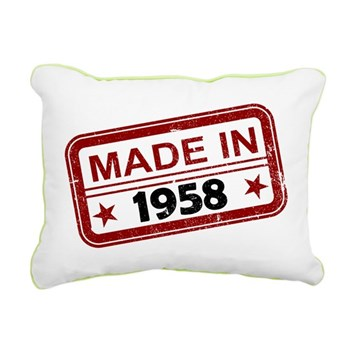 Stamped Made In 1958 Rectangular Canvas Pillow