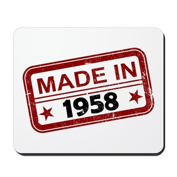 Stamped Made In 1958 Mousepad