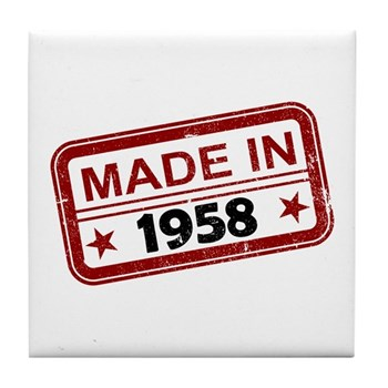 Stamped Made In 1958 Tile Coaster