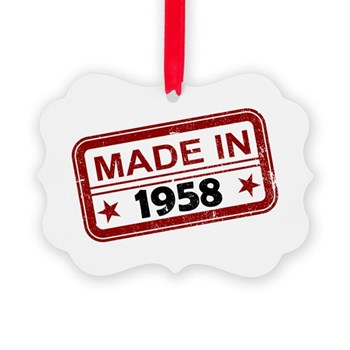 Stamped Made In 1958 Picture Ornament