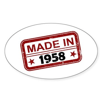 Stamped Made In 1958 Oval Sticker