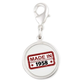 Stamped Made In 1958 Silver Round Charm