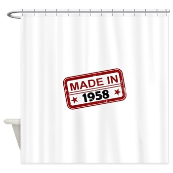 Stamped Made In 1958 Shower Curtain