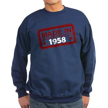 Stamped Made In 1958 Dark Sweatshirt