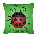 I kill MRSA Woven Throw Pillow