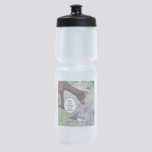 wash your hands black Sports Bottle