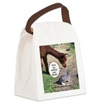 wash your hands black Canvas Lunch Bag