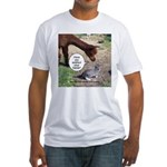 wash your hands black Fitted T-Shirt