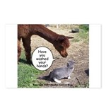 wash your hands black Postcards (Package of 8)